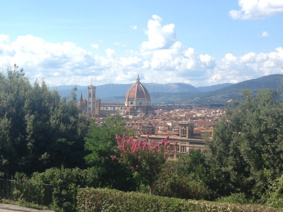 From Piazzale Michelangelo you have this view                      Da Praça Michelangelo você tem esta vista