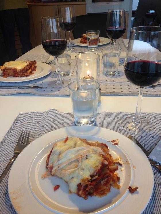 Bruno's lasagna is the best ! A lasanha do Bruno ė imbatível !