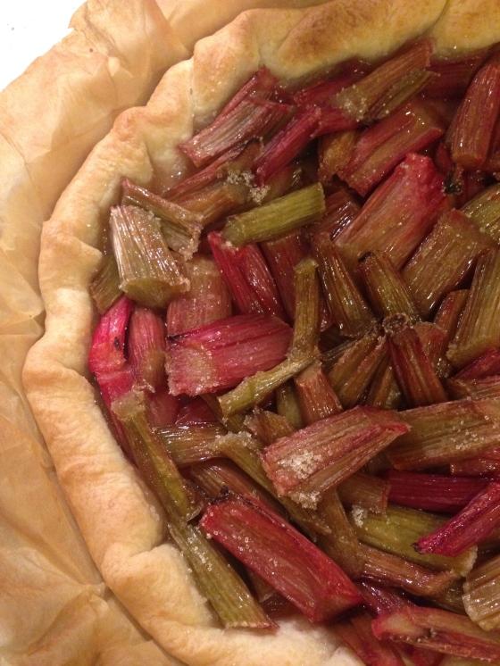 And Karsten's rhubarb pie !!! A a torta de rabarbaro do Karsten !