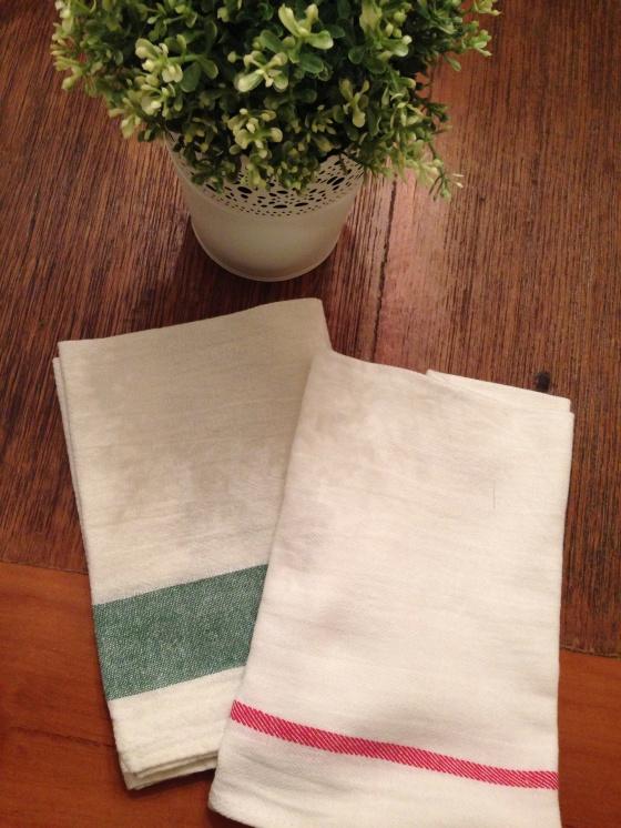 Cotton tea towels Panos de prato de algodão