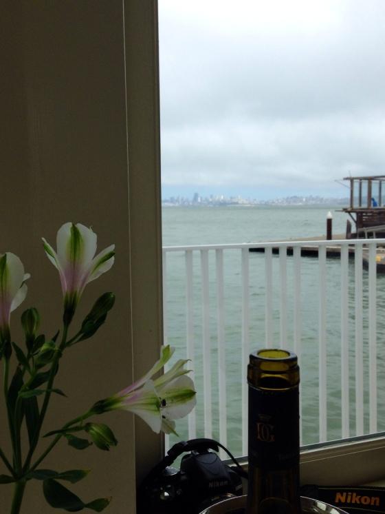 The view of San Francisco from the Scoma's A vista de San Francisco do Scoma's
