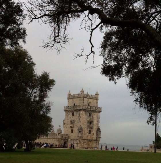 The famous Belém Tower, dated, Official name  Torre de Sāo Vicente, dated 1519. Torre de Belém, nome oficial Torre de São Vicente, de 1519.