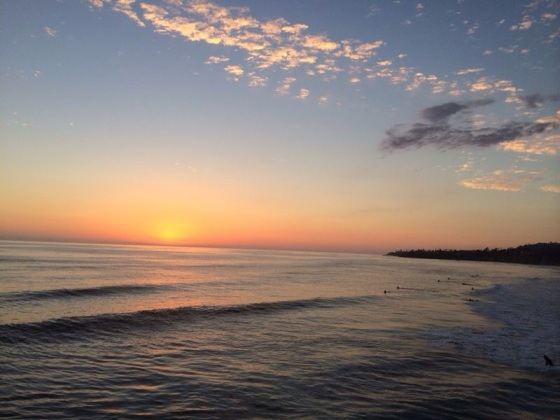 San Diego's sunset… Pôr so sol em San Diego...